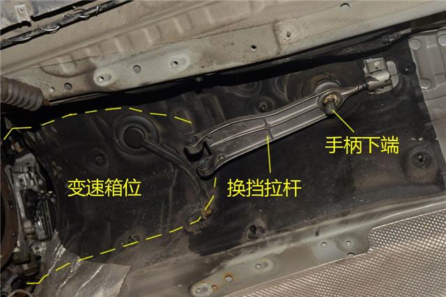 宝马e90的手动变速箱操纵机构